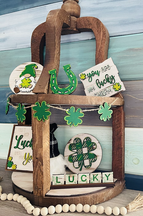 At. Patrick's Day Tiered Tray Set