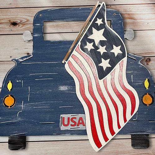 Patriotic Truck Door Hanger