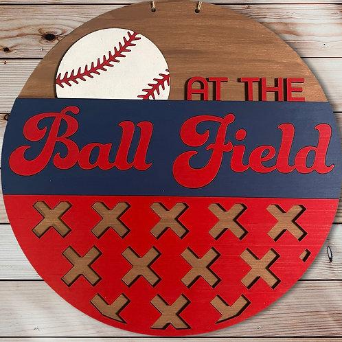 At the Ball Field Dooe Hanger