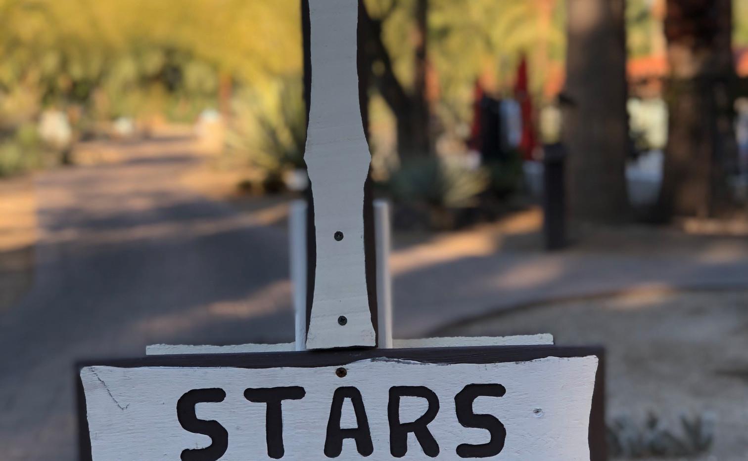 La Casa signage reminds visitors to look up