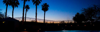 Dusk at the pool