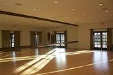 Interior of yoga studio
