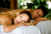 Couples massage with man and woman