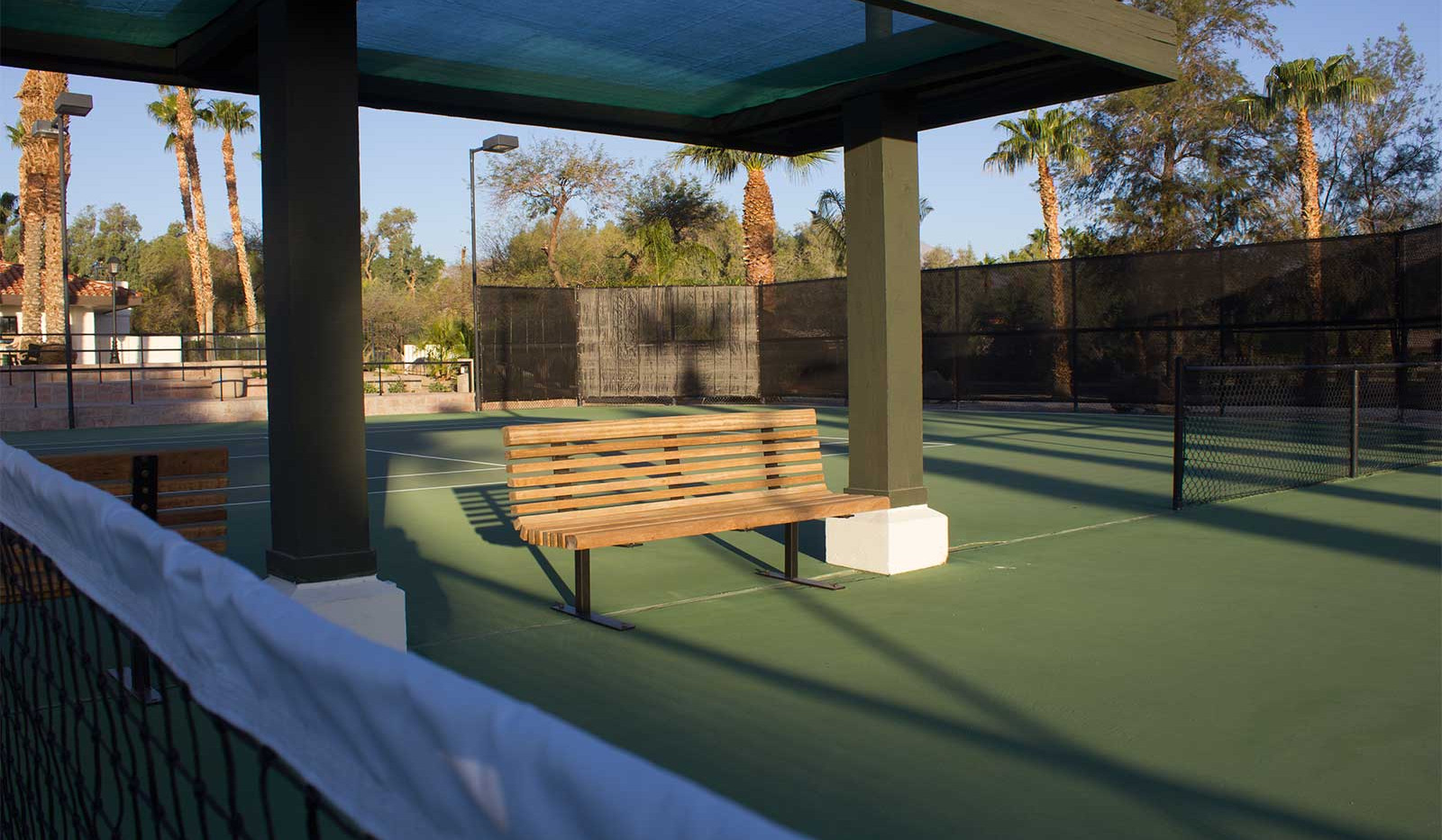 Bench at Tennis Court