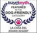 Travelmyth award featuring the Dog-Friendly category