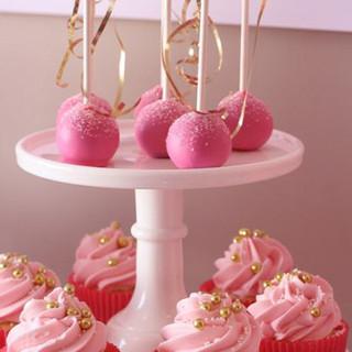 Cakepops et Cupcakes Rose