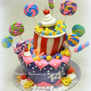 Gâteau Fête Popcorn