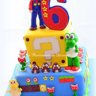 Gâteau Mario et Yoshi