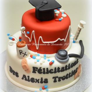 Gâteau finissante en médecine