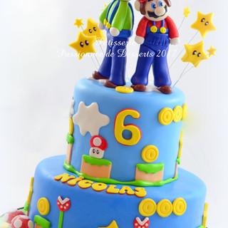 Gâteau Mario et Luigi