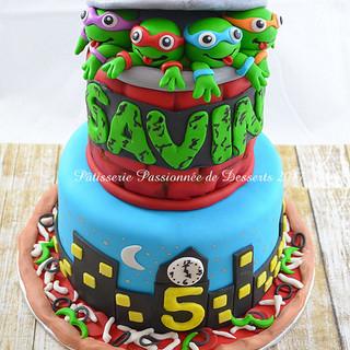 Gâteau Ninja Turtles