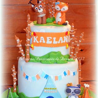 Gâteau animaux de la forêt