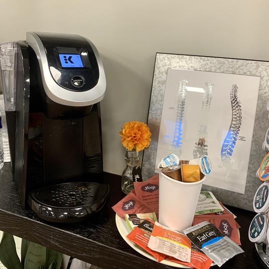 Move Chiropractic Coffee Machine