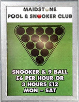 Rates at Maidstone Pool & Snooker