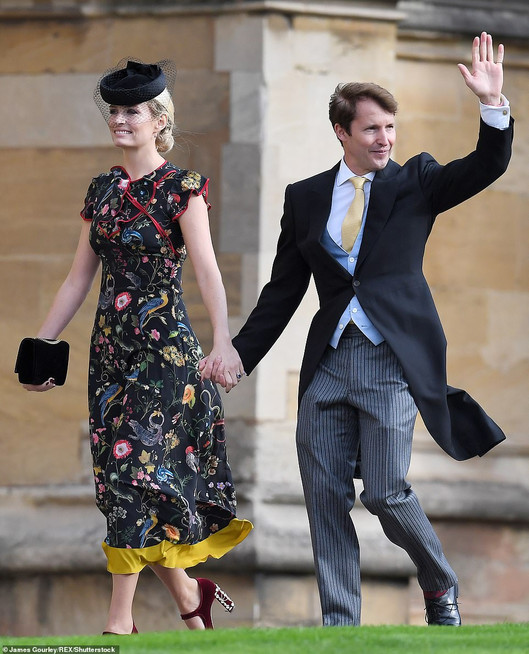 Sofia Wensley Blunt and James Blunt Eugenie Royal wedding 18