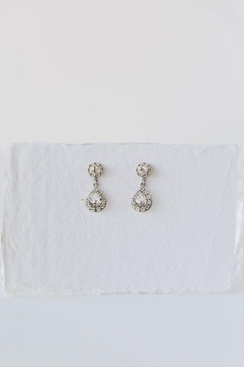 Silver Ray Earrings