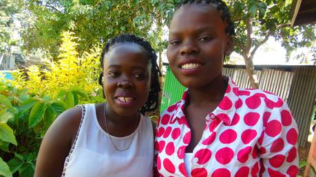 Thankfull students at Ebenezer in Kenya