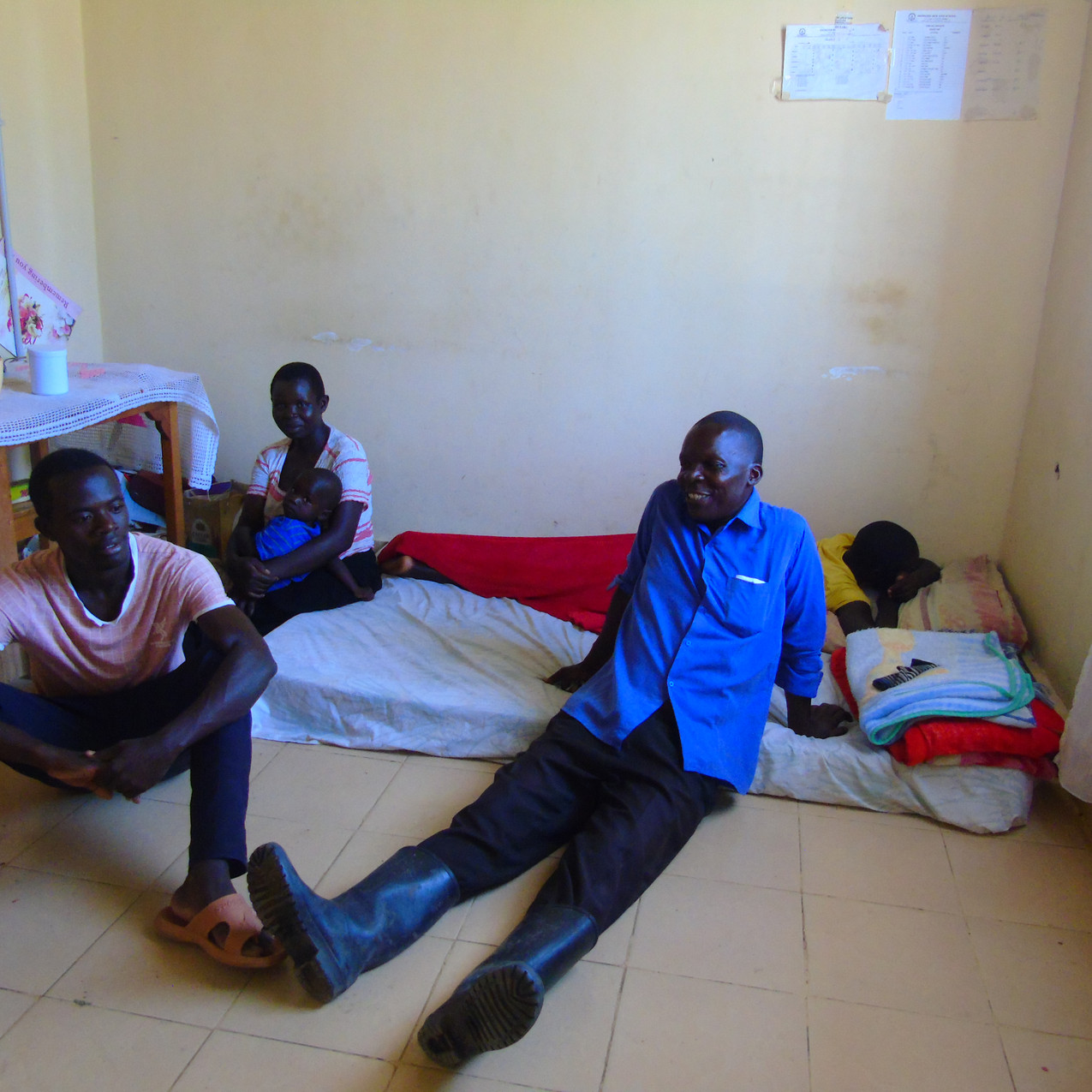 Two teachers displaced by floods