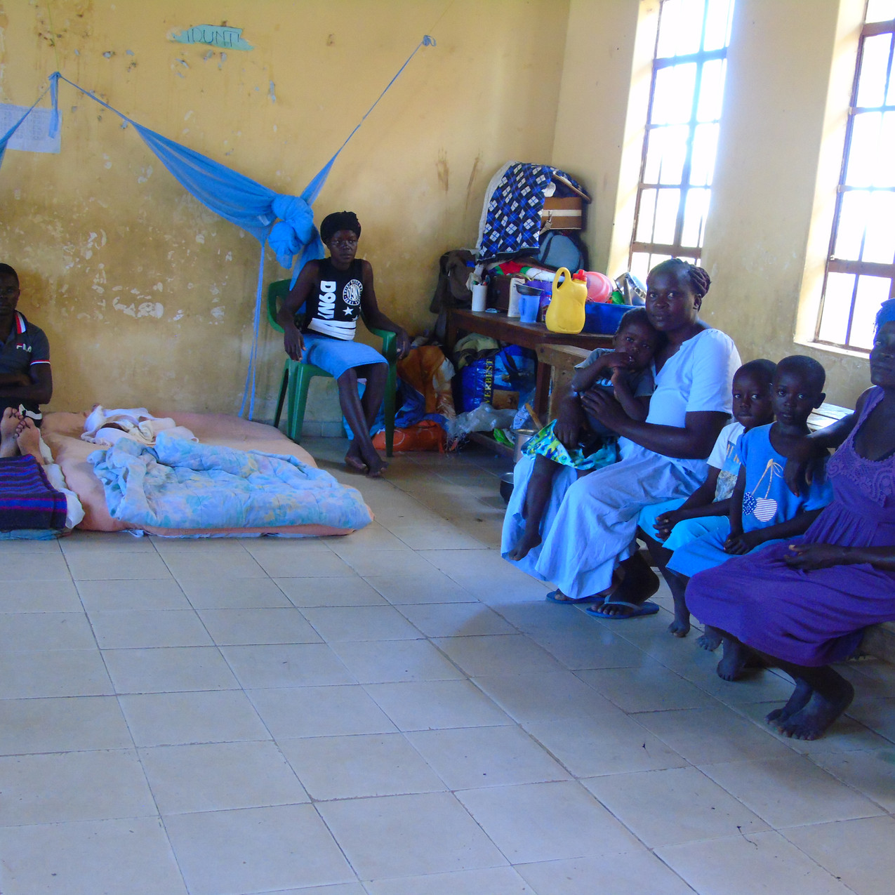 Families displaced living in Ayweyo