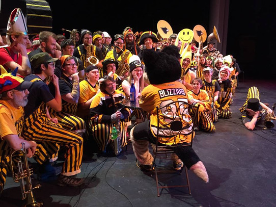 Getting Intimate with the Huskies Pep Band. 2017