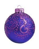 Purpur und Blau Ornament