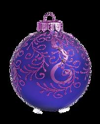 Lilla og blå Ornament