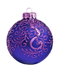 Purpur und Blau Ornament