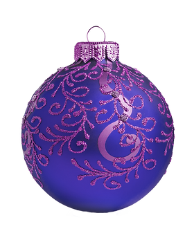 Purple and Blue Ornament