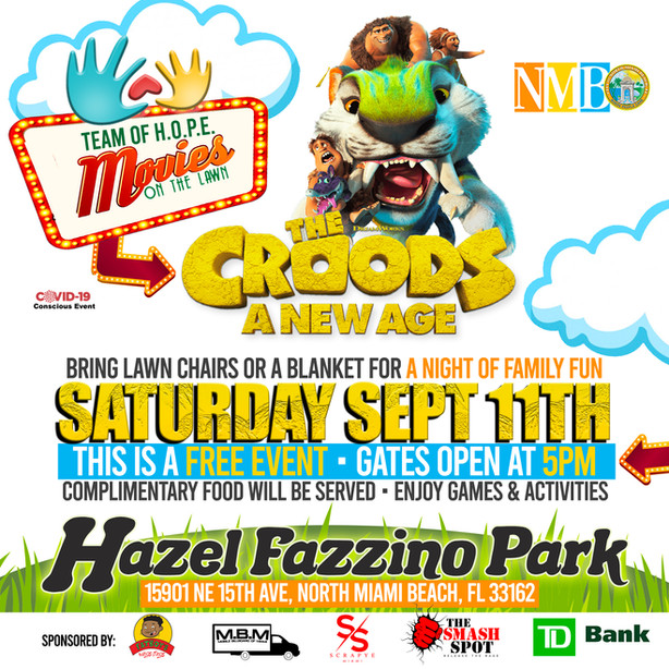 """Movie Night: On The Lawn """"Croods 2"""""""