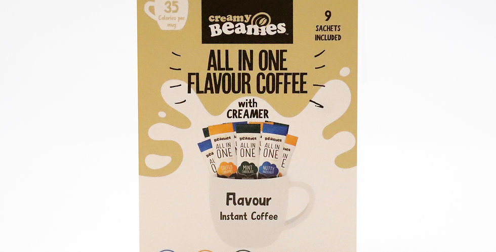 All in One Variety Pack.  Coffee, flavour and creamer