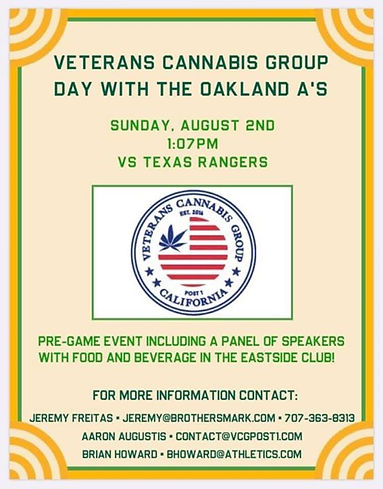 The next Veterans Cannabis Group event i