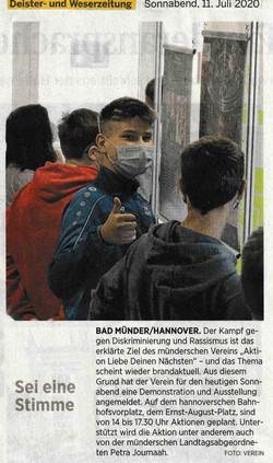 Deister- und Weserzeitung 11.07.2020