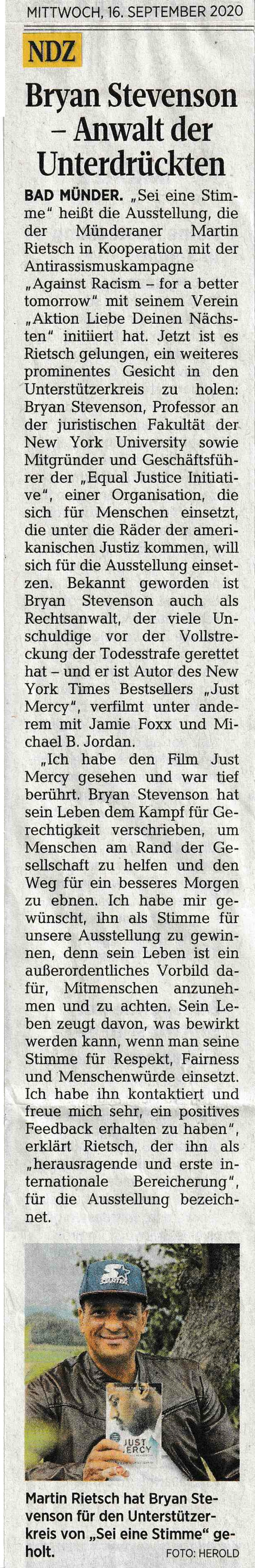 Neue Deister Zeitung 16.09.2020