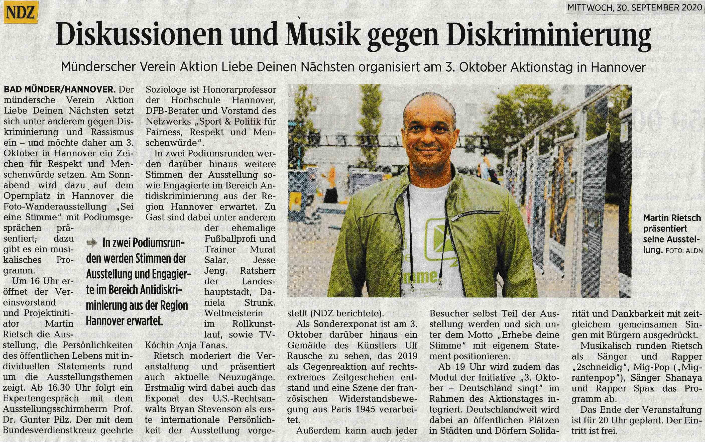 Neue Deister Zeitung 30.09.2020
