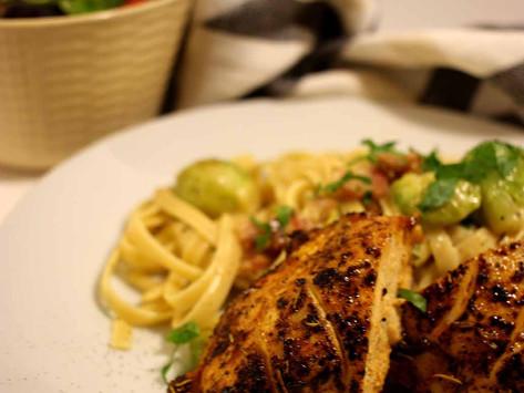 Italian Chicken with Pasta Carbonara