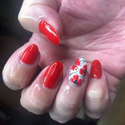 Luscious Red Poppy Nails 🌺❤️ #bertifulm