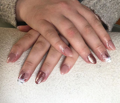 RoseGold Unicorn nails for a lovely clie