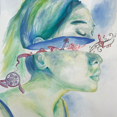 """""""My Legacy"""" by Jessica Agaloos, Class of 2018 - 4th Place, LVA Self-Portrait"""