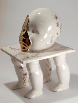 Altered Slip cast Ceramic Sculpture (1)