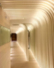 Murs et plafonds en staff contemporain, Spa Hotel.
