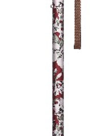 日本Fuji Home (富士家)單腳花紋拐杖(紅花)