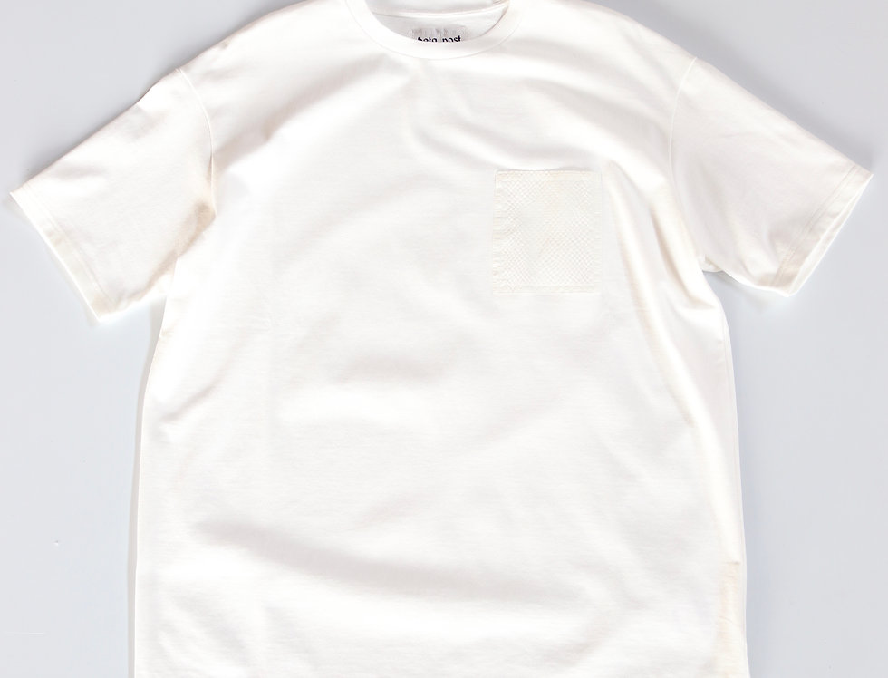 beta post SAKIORI POCKET T-SHIRT -WHITE-