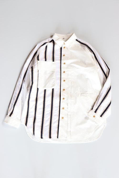 KHOKI Moon morning  regular collar shirt White