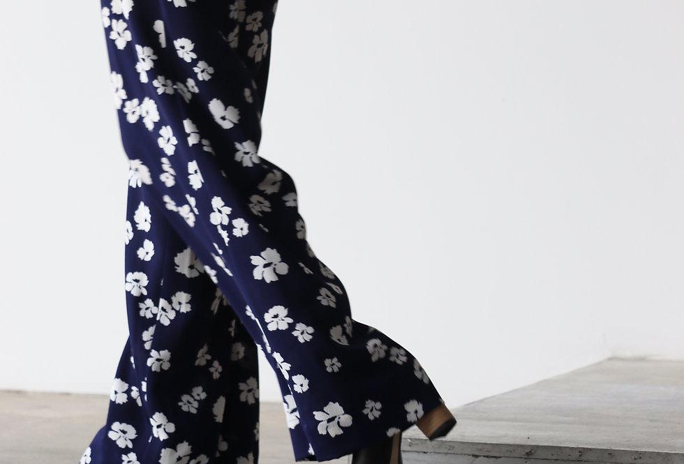 Baum Und Pferdgarten Recycled Polyester Trouse Patriot Blue Floral