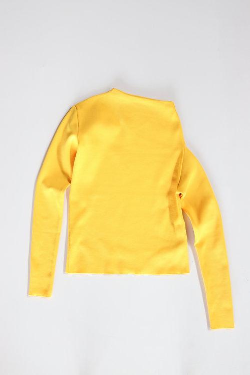 IIROT Asymmetry Sleeve Knit Yellow