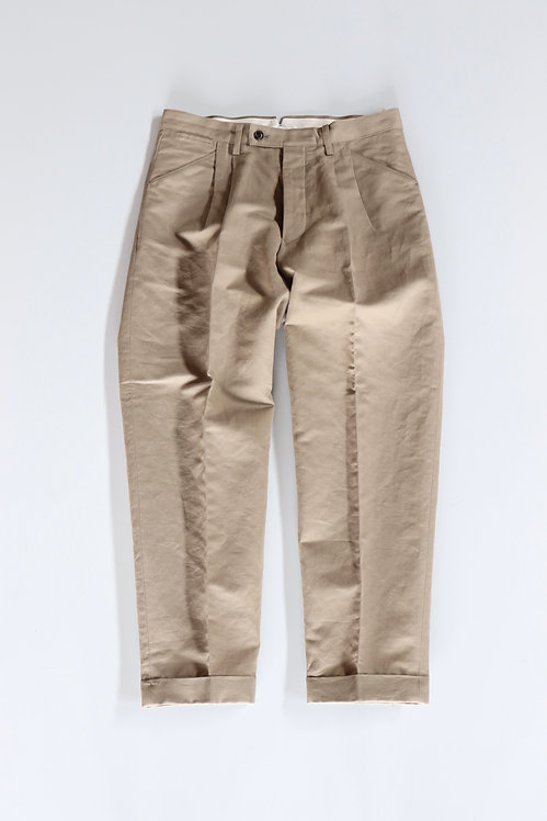 tilt The authentics 2Tuck Tilt Dart Trousers -BLUE BEIGE-