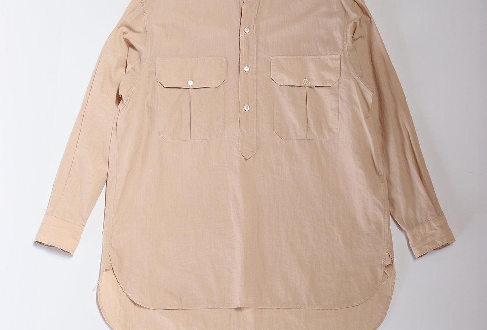 COMOLI プルオーバー カーゴシャツ SAND PINK