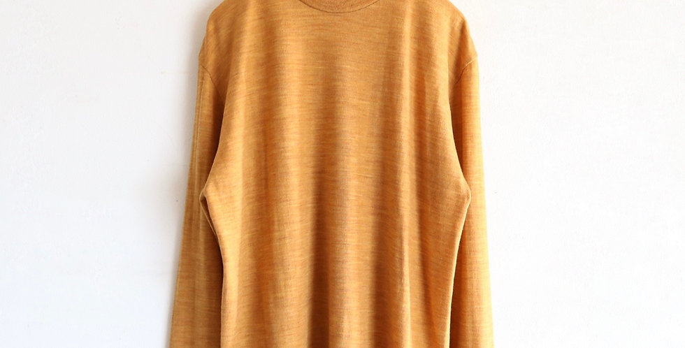Graphpaper Washable Wool Crew Neck Tee -LEAF-