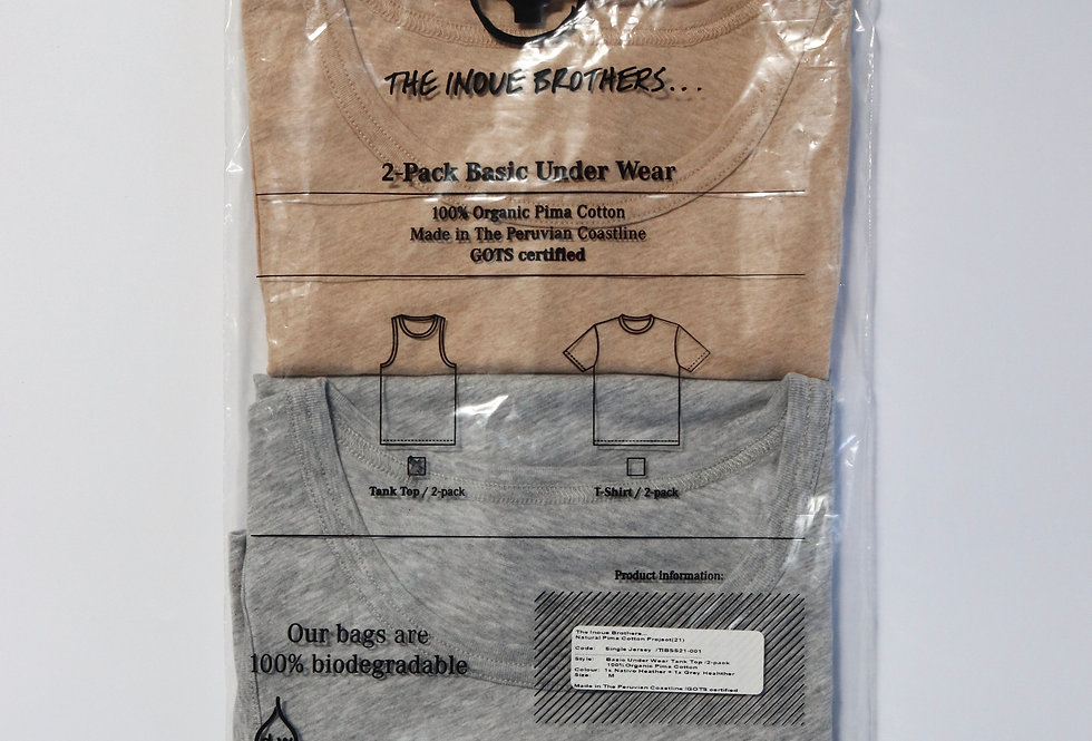 THE INOUE BROTHERS Pack tank top Nativo heather/Gray heather