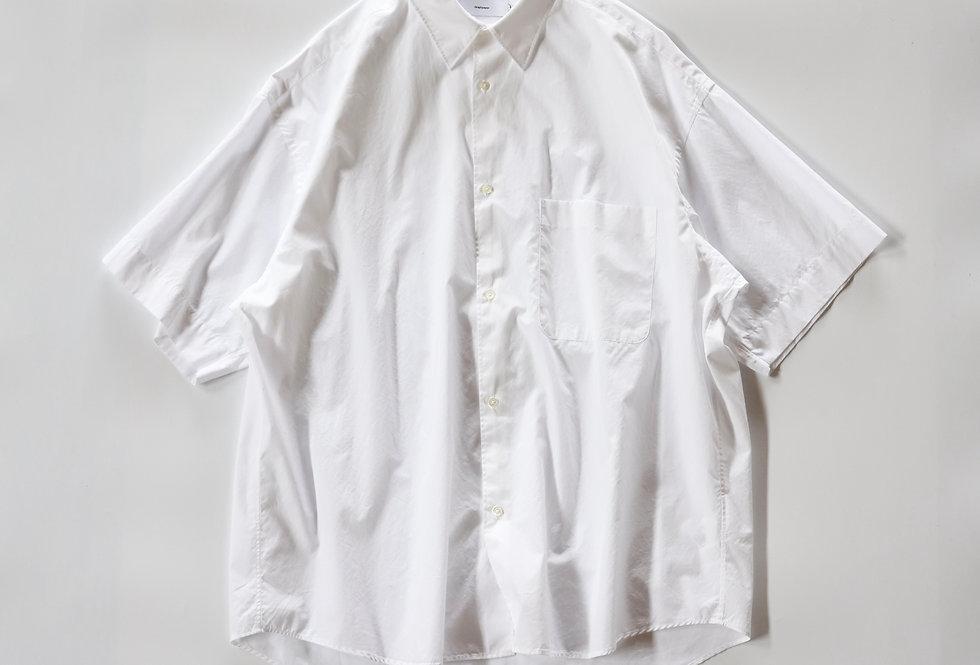 Graphpaper Broad Oversized S/S Regular Collar Shirt WHITE